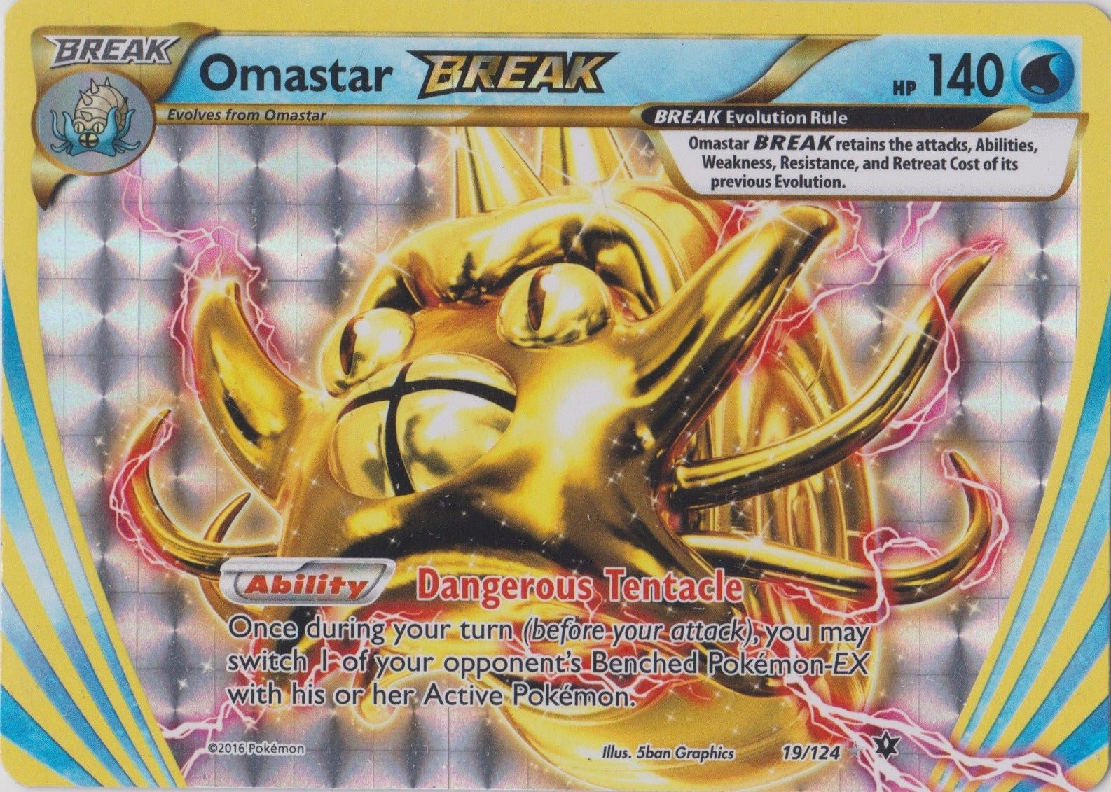Strong Energy 115//124 Reverse Holo Pokemon Fates Collide Card
