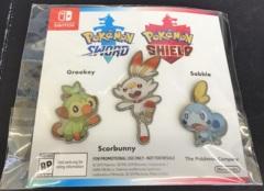 Pokemon Sword & Shield Galar Starters Pins - Grookey, Scorbunny, and Sobble