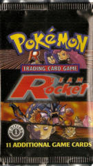 Pokemon Team Rocket 1st Edition Booster Pack - Collage Artwork