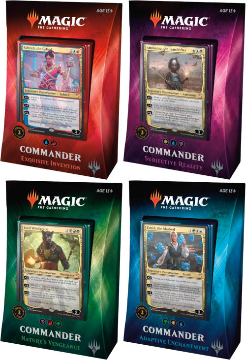 MTG Set of 4 Commander 2018 Decks