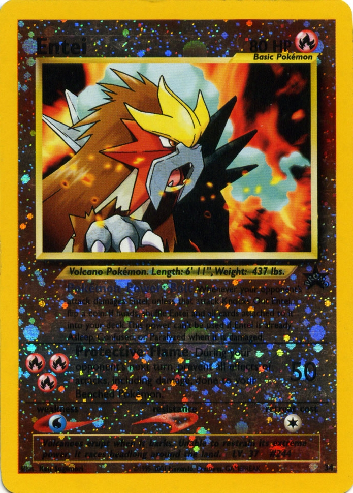 Entei #34 Reverse Holo Promo - Spell of the Unown: Entei Movie