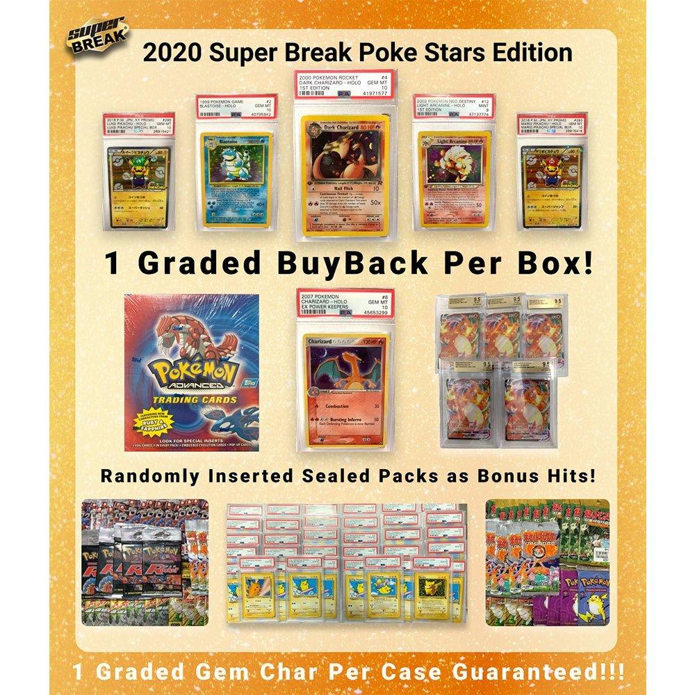 2020 Super Break Pokemon Poke Stars Buyback Edition Box - Please Read Description!