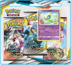 Pokemon Sun & Moon SM12 Cosmic Eclipse 3-Booster Blister Pack - Celebi
