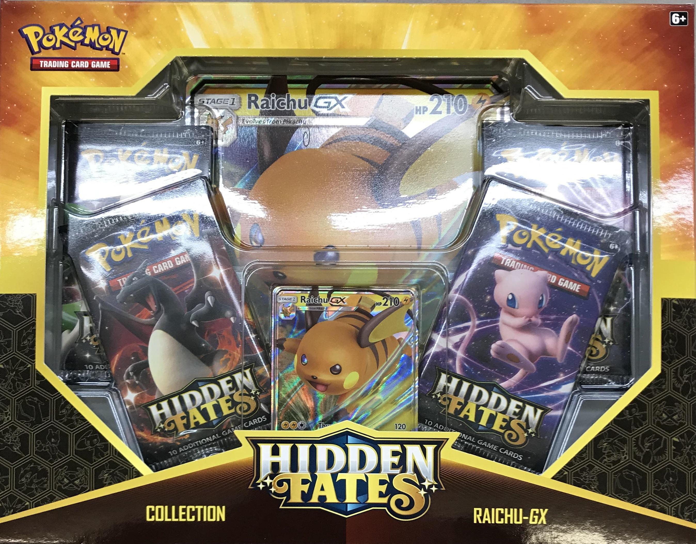 FACTORY SEALED ! IN HAND Pokemon tcg Hidden Fates Raichu GX Collectors Box