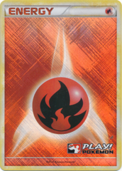 Fire Energy Unnumbered Crosshatch Holo Promo - 2010 Play! Pokemon