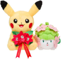 Japanese Pokemon Center 20th Anniversary Pikachu & Shaymin Plush
