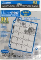 Ultra Pro 20-Pocket Multi-Coin Protection Page (10 Pack)