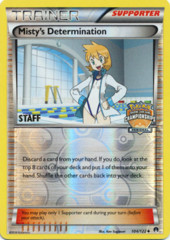 Misty's Determination 104/122 Reverse Holo STAFF Promo - 2016 Regional Championships
