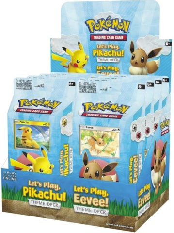 Pokemon Lets Play Theme Deck Display Box (8 Decks)