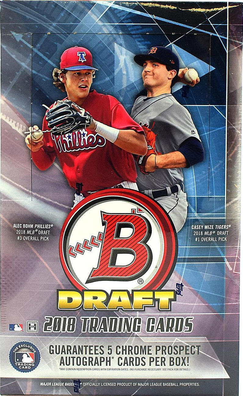 2018 Bowman Draft Baseball Mlb Super Jumbo Sports Cards Trading