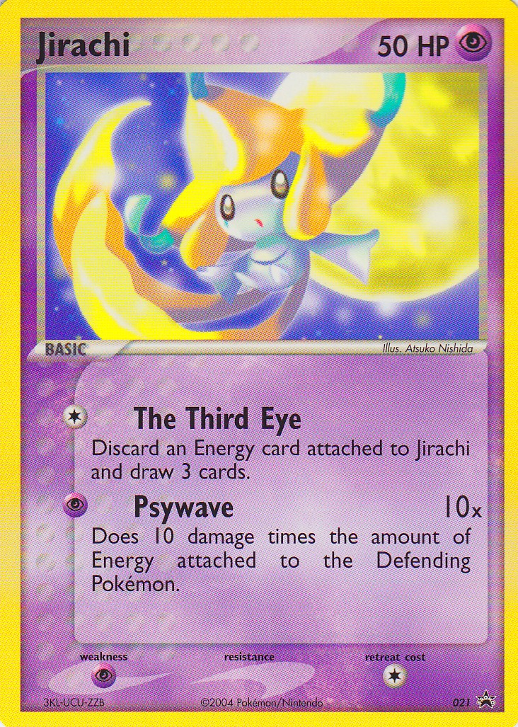 Jirachi 021 Non Holo Promo Jirachi Wish Maker Dvd Pokemon