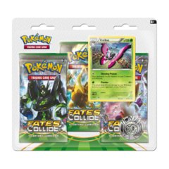 Pokemon XY10 Fates Collide 3-Booster Blister Pack - Vivillon Promo