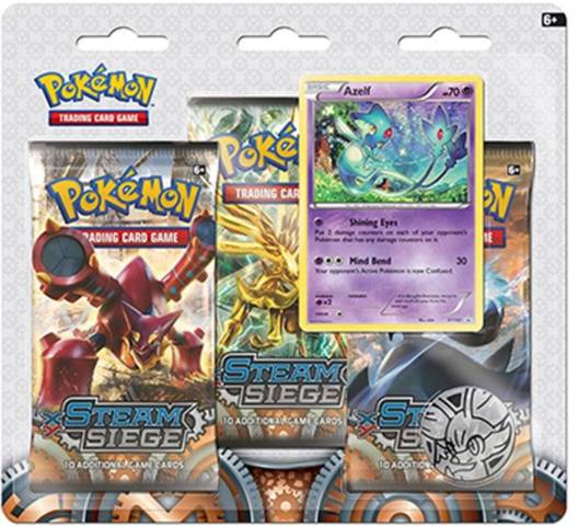 Pokemon XY11 Steam Siege 3-Booster Blister Pack - Azelf Promo
