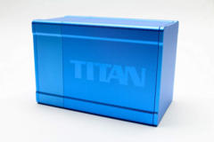 Boxgods Titan Solid Blue Deck Box