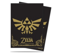 Ultra Pro Standard Size Legend of Zelda Black & Gold Sleeves - 65ct