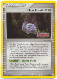 Claw Fossil - 84/108 - Common - Reverse Holo