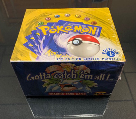 CERTIFIED AUTHENTIC English Pokemon Base Set 1st Booster Box - SAINT LOUIS BOX