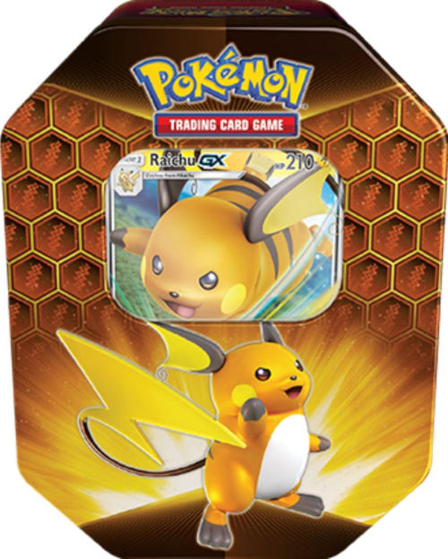 Pokemon Hidden Fates Tin: Raichu GX
