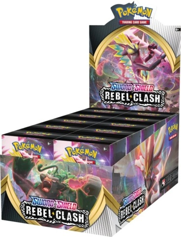 Pokemon Sword & Shield SWSH2 Rebel Clash Prerelease Build & Battle Kit Display Box (10 Kits)