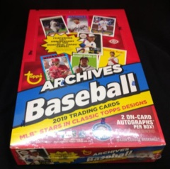 2019 Topps Archives MLB Baseball Hobby Box
