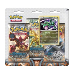 Pokemon XY11 Steam Siege 3-Booster Blister Pack - Rayquaza Promo