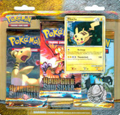 Pokemon HeartGold & SoulSilver 3-Booster Blister Pack - Pikachu
