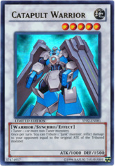 Catapult Warrior Ultra Rare Holo YF02-EN001