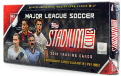 2018 Topps MLS Major League Soccer Stadium Club Hobby Box