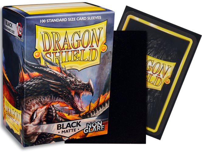 Dragon Shield NON-GLARE Matte Standard-Size Sleeves - Black - 100ct