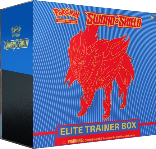 Pokemon Sword & Shield SWSH1 Base Set Zamazenta (Shield) Elite Trainer Box