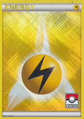 Lightning Energy Unnumbered Crosshatch Holo Promo - 2011 Pokemon League