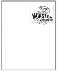 Monster Protectors 4-Pocket Binder - Matte White w/ Black Pages