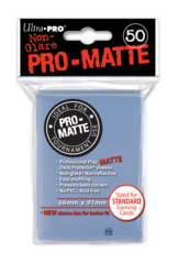 Ultra Pro Standard Size Clear Pro Matte Sleeves - 50ct