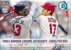 2018 Bowman Chrome MLB Baseball HTA Box