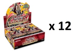 Yu-Gi-Oh Blazing Vortex 1st Edition Booster CASE (12 Booster Boxes) FACTORY SEALED