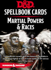 Dungeons & Dragons 5th Edition Spellbook Cards: Martial Powers & Races