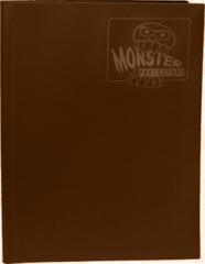 9-Pocket Monster Binder - Matte Brown