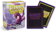 Dragon Shield Matte Standard-Size Sleeves - Clear Purple - 100ct