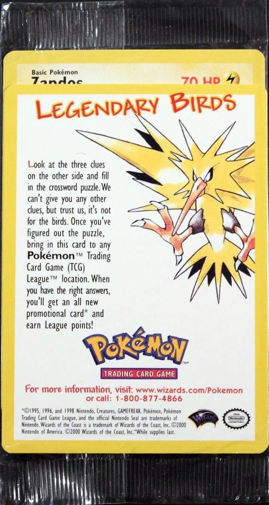 Zapdos 23 SEALED Non-Holo Promo - The Power of One Theatrical Release