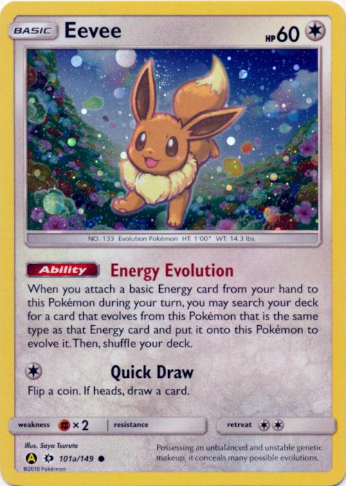 Eevee 101a 149 Cosmos Holo Promo Pikachu Eevee Poke Ball