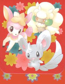Japanese Pokemon Black & White Minccino Deck Box