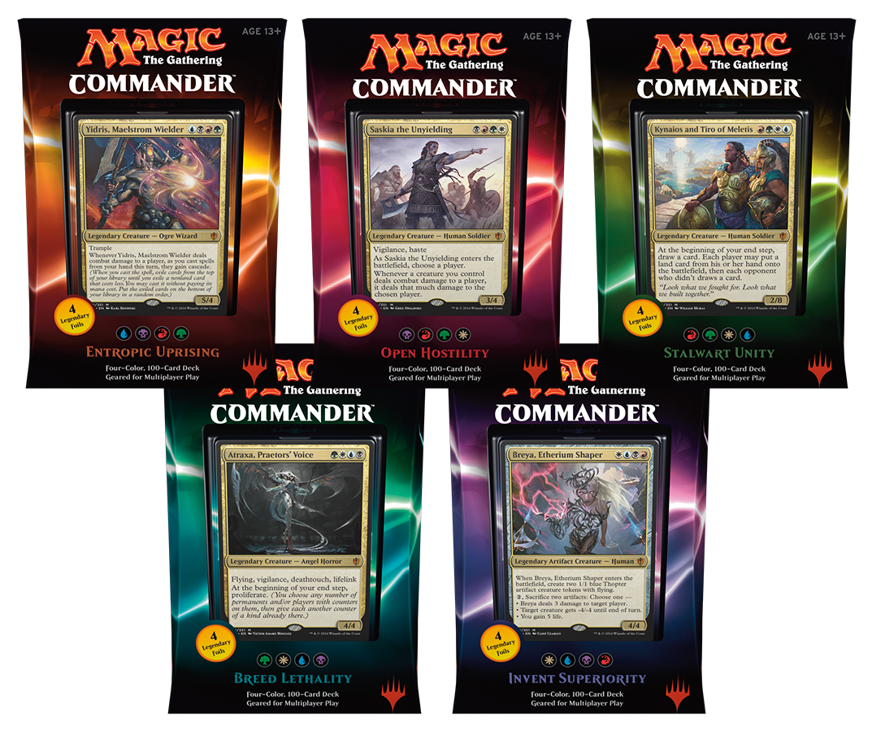 MTG Commander 2016 Decks: Set of 5 - Magic Products