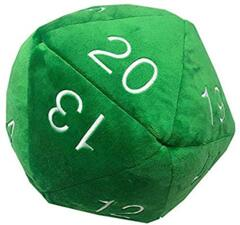 Ultra Pro Jumbo D20 Plush Die Green with White Numbers