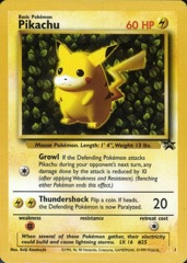 Pikachu 1 Non-Holo Promo - 1999 Pokemon League