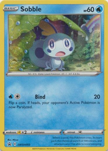 Pokemon card Coin sA Sobble Starter Deck set V