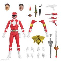 Mighty Morphin Power Rangers Ultimates! - Red Ranger Action Figure