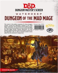 Dungeons & Dragons 5E Dungeon Master's Screen Waterdeep Dungeon Of The Mad Mage