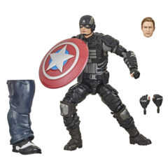 Marvel Legends - Marvel's Avengers Gameverse - Stealth Captain America Action Figure (Joe Fixit BAF)
