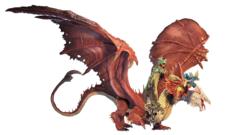 D&D Icons of the Realms - Premium Mini - Gargantuan Tiamat