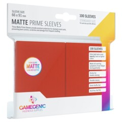 Gamegenic - Sleeves Matte Prime - Red 100 ct